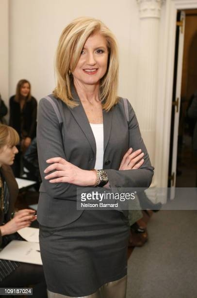 Huffington Post cofounder Arianna Huffington attends the Ports 1961 Fall 2011 fashion show during MercedesBenz Fashion Week at 2 East 63rd Street on...