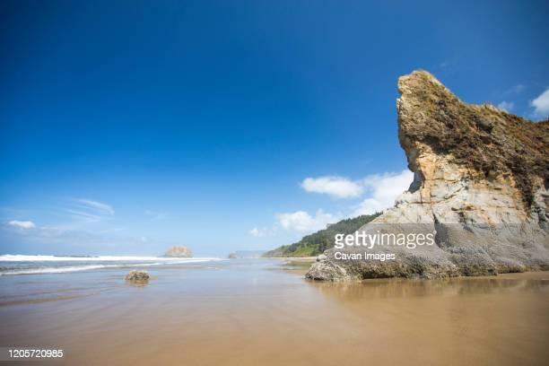 hug point state recreation site, oregon coast. - manzanita stock pictures, royalty-free photos & images