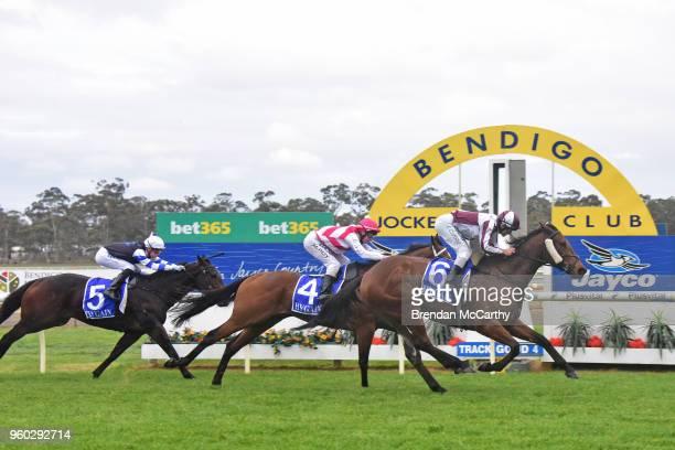 Huge Action ridden by Luke Currie wins the Cola Solar BM64 Handicap at Bendigo Racecourse on May 20 2018 in Bendigo Australia