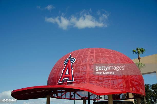 Huge Angels baseball cap att Angels  Stadium