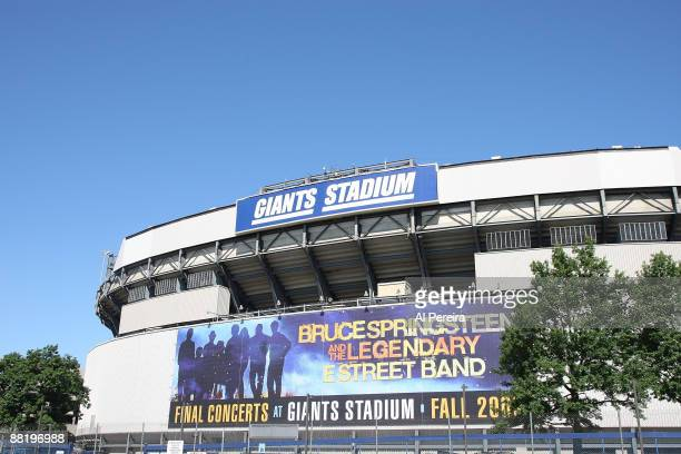 A huge banner covers the entire wall at Giants Stadium advertising that Bruce Springsteen and the legendary E Street Band will play the final...