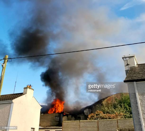 huge black smoke cloud from fire - human interest stock pictures, royalty-free photos & images