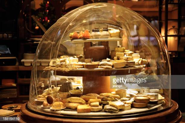 Huge cheese dome in restaurant