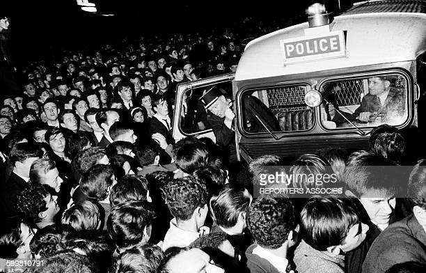 Huge Crowd and Police at a Concert of French Young Singers on the Place de la Nation in Paris France on June 22 1963