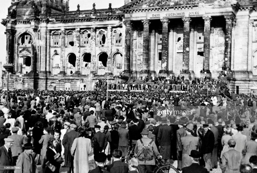 GERMANY-BERLIN-BLOCKADE-DEMO : News Photo