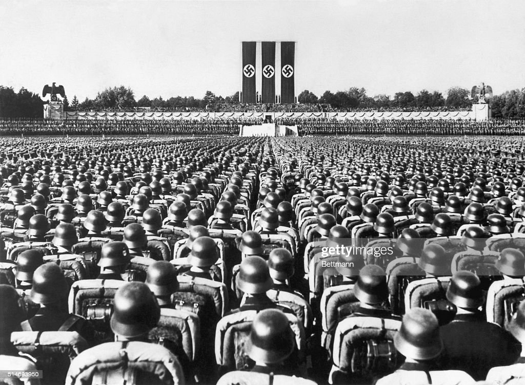 Soldiers at Nazi Party Rally in Nuremberg : ニュース写真