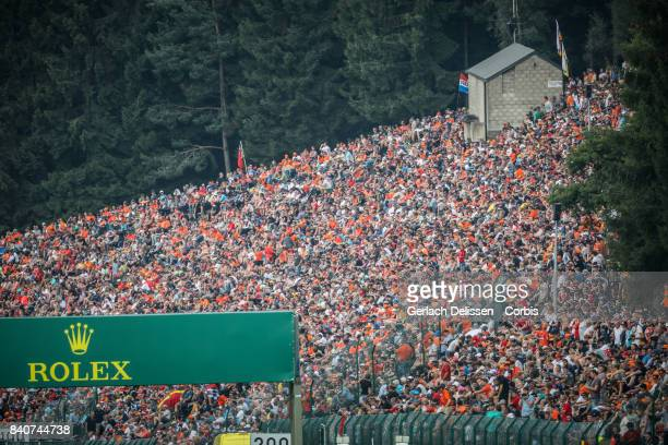 huge crowds at Circuit de SpaFrancorchamps on August 27 2017 in Spa Belgium