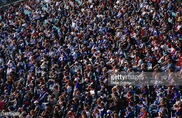 Huge crowds at the Melbourne Cricket Ground (MCG).