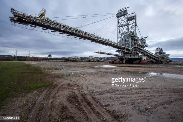 Huge excavator at abandoned lignite mine
