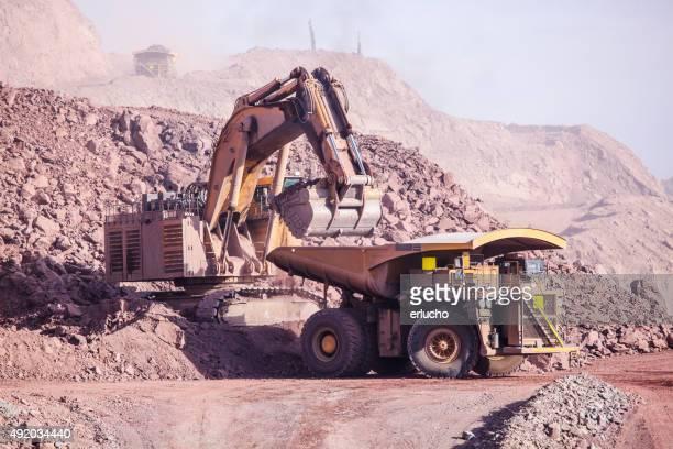 Huge Excavator. Mining