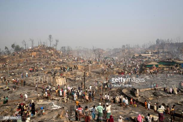 Huge fire swept through a Rohingya refugee camp in southern Bangladesh on Monday, destroying thousands of homes and killing at least seven people in...