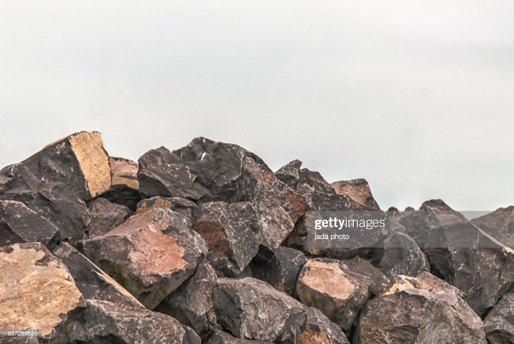 huge heap with boulders : Stock Photo