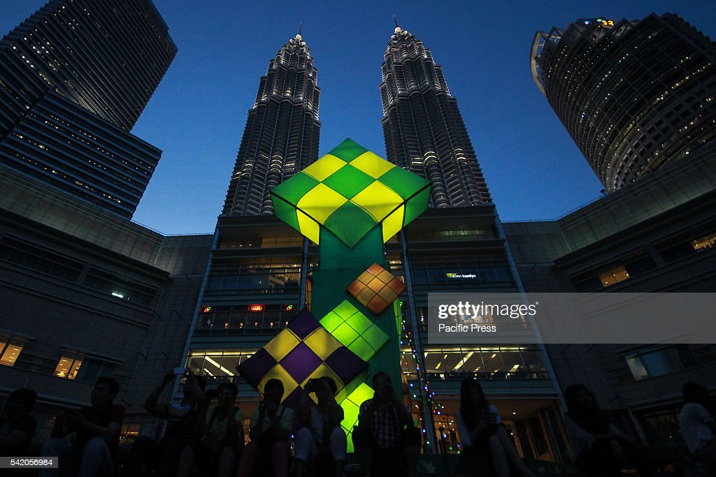 Great Raya Eid Al-Fitr Decorations - huge-ketupat-raya-was-decorated-in-front-of-the-petronas-twin-towers-picture-id542056984  Pictures_331965 .com/photos/huge-ketupat-raya-was-decorated-in-front-of-the-petronas-twin-towers-picture-id542056984