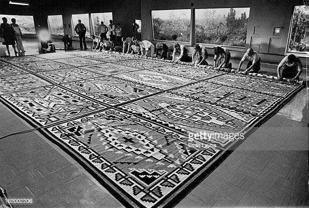 JAN 16 1979 JAN 23 1980 Huge Navajo Rug On Display The largest Navajo rug ever made the Chilchinbeto Rug will be on display at the Denver Museum of...