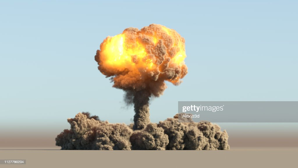 Huge nuclear explosion : Stock Photo