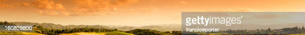 Huge panorama landscape hills in Chianti Region - Montalcino Tuscany