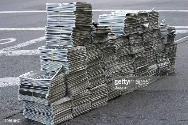 huge pile of free newspapers - releasing stock pictures, royalty-free photos & images