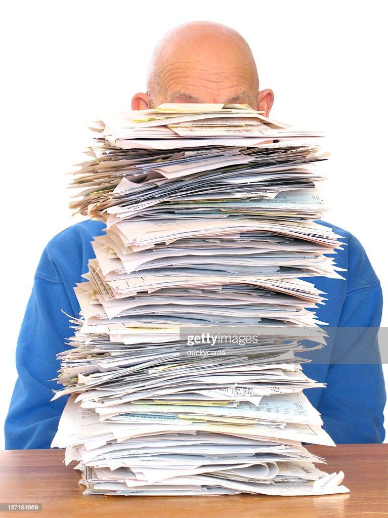 Huge Pile of Paperwork : Stock Photo