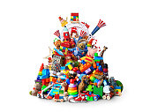 Huge pile of toys