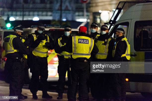 Huge police presents during the New Year Eve in London, Britain, 31 December 2020. The government is discouraging people from celebrating New Years...