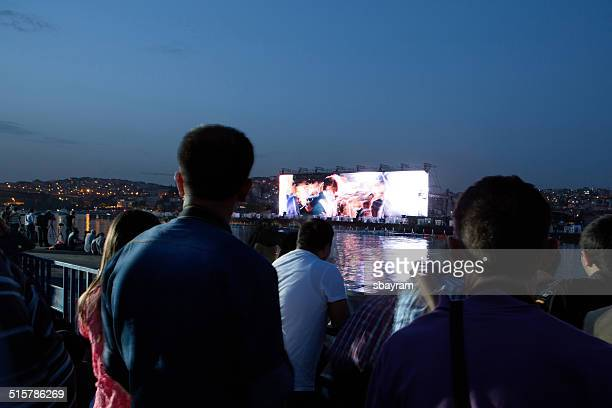 huge screen - projection screen stock photos and pictures