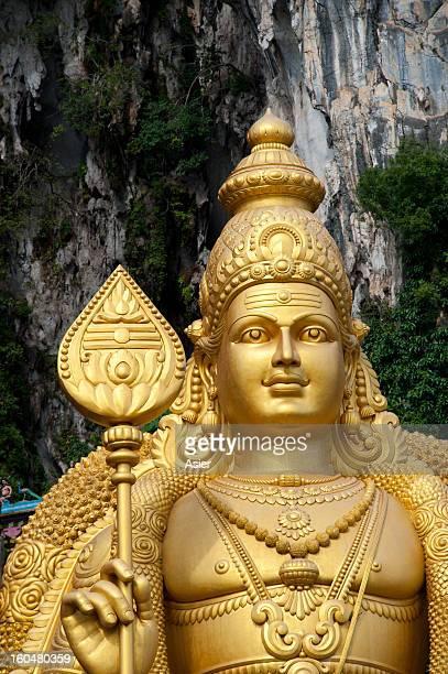 Huge statue of Murugan in Batu Caves, Malaysia