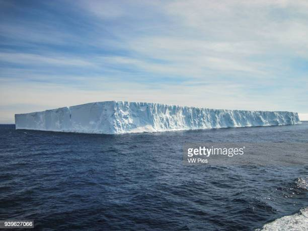 Huge tabular iceberg at the Antarctic sound very close of the Weddell sea.