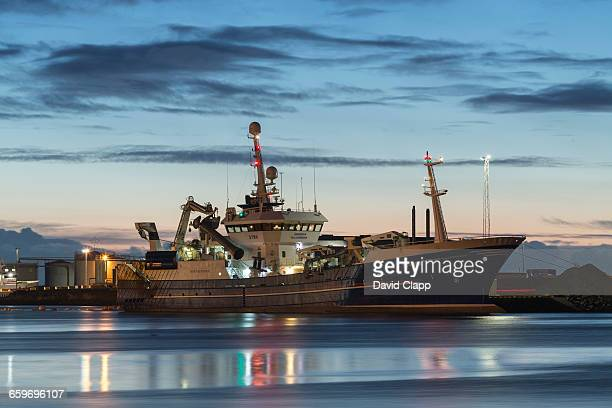 Huge trawler moored in Hofn, Iceland