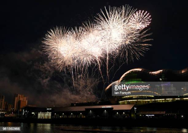 Huge water fountain art installation, music and firework displays brings the opening ceremony of the Great Exhibition of the North to an end on June...