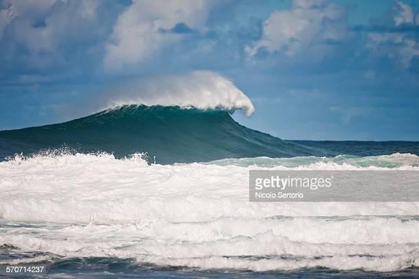 Huge wave breaking
