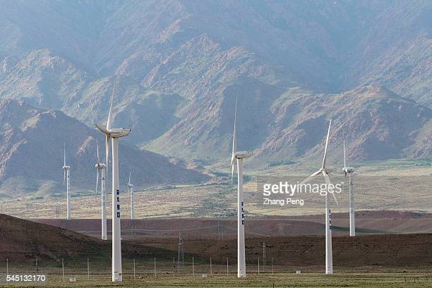 A huge wind power farm on a wild meadow Official statistics show that 339 billion kilowatthours of windpower or about 15 percent of all Chinese wind...