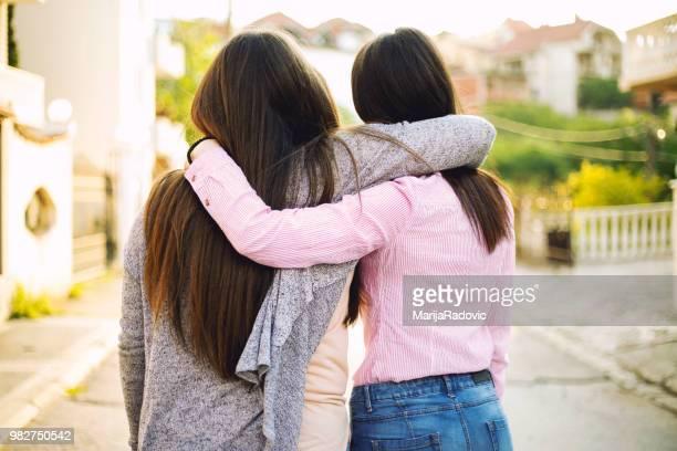 Hugging best friend