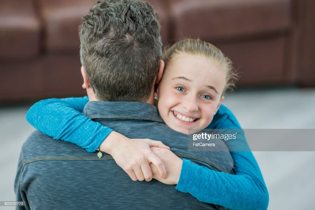 Hugging Father : Stock Photo
