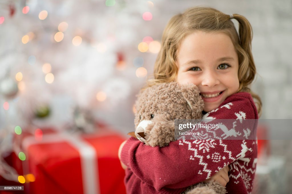 Hugging Teddy : Stock Photo