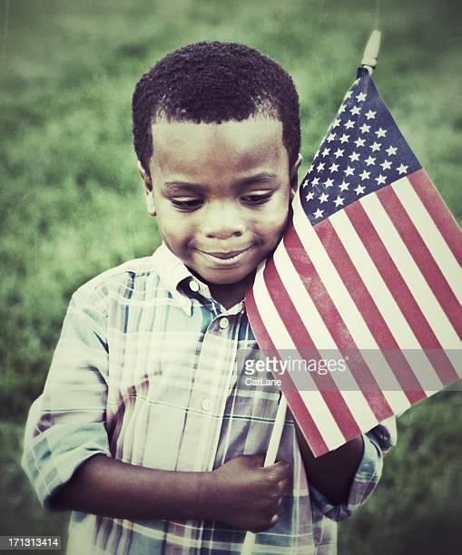 Hugging the American Flag