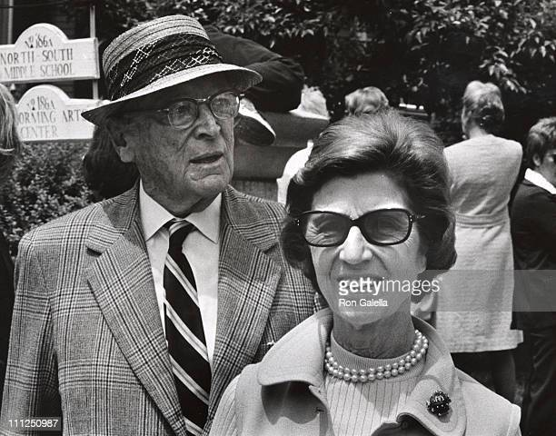 Hugh Auchincloss and Janet Auchincloss during Caroline Kennedy's Graduation From Concord Academy at Concord Academy in Concord Massachusetts United...