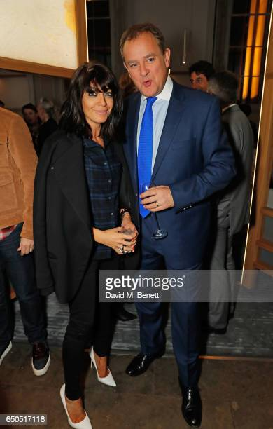 Hugh Bonneville and Claudia Winkleman attend the launch of The National Cafe at the National Gallery on March 9 2017 in London England