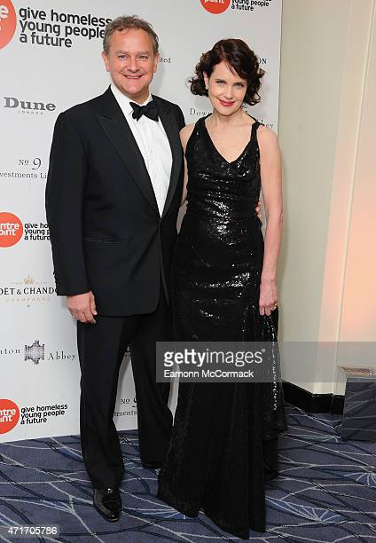 Hugh Bonneville and Elizabeth McGovern attend The Downton Abbey Ball at The Savoy Hotel on April 30 2015 in London England