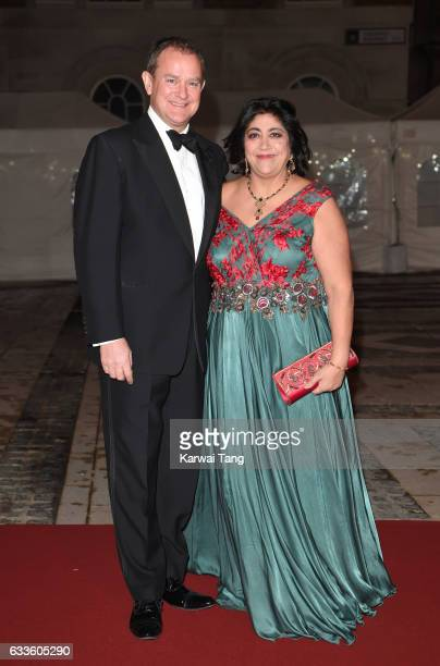 Hugh Bonneville and Gurinder Chadha attend a reception and dinner for supporters of The British Asian Trust on February 2 2017 in London England