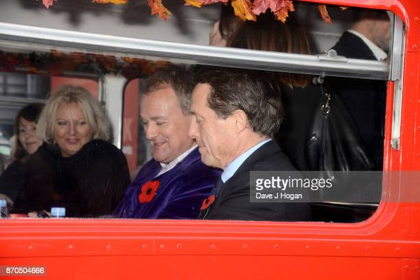 Hugh Bonneville and Hugh Grant attend the 'Paddington 2' premiere at BFI Southbank on November 5 2017 in London England