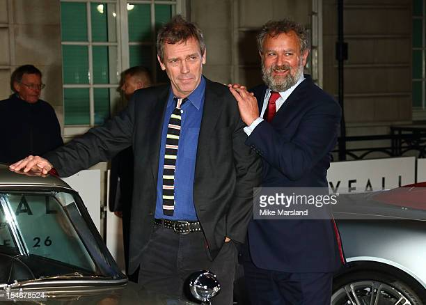 Hugh Bonneville and Hugh Laurie attend a VIP screening of 'Skyfall' hosted by Aston Martin at The Curzon Mayfair on October 24 2012 in London England