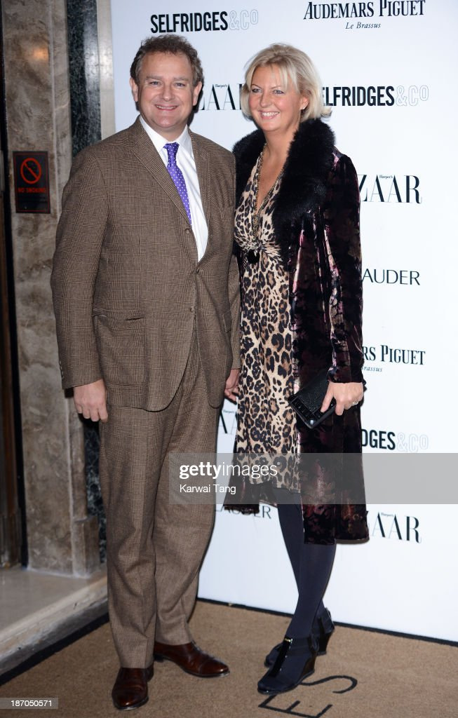 Hugh Bonneville and Lulu Williams attend the Harpers Bazaar Women of the Year Awards at Claridge's Hotel on November 5, 2013 in London, England.
