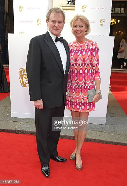 Hugh Bonneville and Lulu Williams attend the House of Fraser British Academy Television Awards at Theatre Royal Drury Lane on May 10 2015 in London...