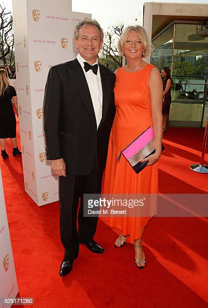 Hugh Bonneville and Lulu Williams attend the House Of Fraser British Academy Television Awards 2016 at the Royal Festival Hall on May 8 2016 in...