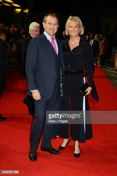 Hugh Bonneville and Lulu Williams attend the UK premiere of 'Viceroys's House' at The Curzon Mayfair on February 21 2017 in London England