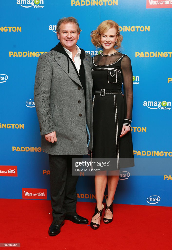 Hugh Bonneville (L) and Nicole Kidman attends the World Premiere of 'Paddington' at Odeon Leicester Square on November 23, 2014 in London, England.