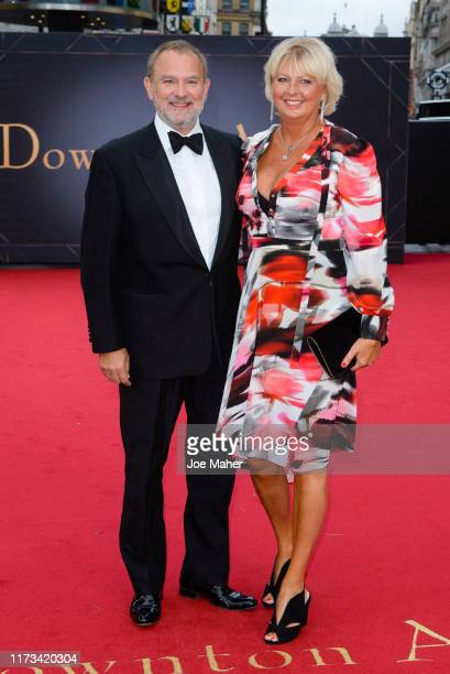 "Hugh Bonneville and wife Lulu Williams attend the ""Downton Abbey"" World Premiere at Cineworld Leicester Square on September 09, 2019 in London,..."