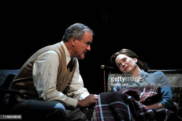 Hugh Bonneville as CS Lewis and Liz White as Joy Gresham in William Nicholson's Shadowlands directed by Rachel Kavanaugh at Chichester Festival...