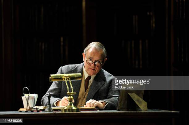 Hugh Bonneville as CS Lewis in William Nicholson's Shadowlands directed by Rachel Kavanaugh at Chichester Festival Theatre on May 1 2019 in...
