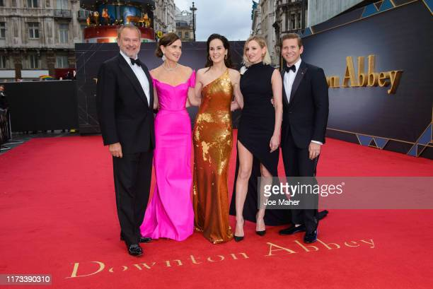 "Hugh Bonneville, Elizabeth McGovern, Michelle Dockery, Laura Carmichael and Allen Leech attend the ""Downton Abbey"" World Premiere at Cineworld..."